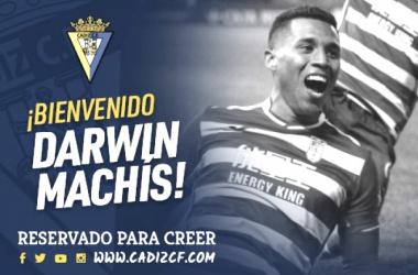 Machís es nuevo jugador del Cádiz. Fuente: cádizcf.com