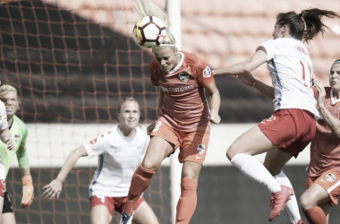 Rachel Daly with the Houston Dash at BBVA Compass Stadium in Houston, TX | Photo: Houston Dash