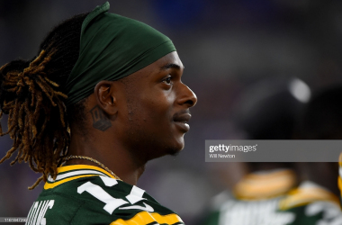 Davante Adams looking on at Soldier Field (Photo: Will Newton/Getty Images)