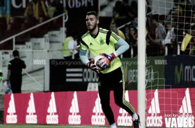 De Gea con la selección. | Foto: Juan Ignacio Lechuga / Vavel