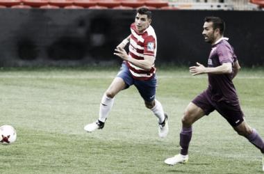 David Grande anotaba siete tantos la temporada pasada en el Granada B. FOTO | Pepe Villoslada / Granada CF