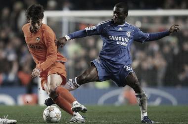 David Silva vs Chelsea en 2007 | Fotografía: Valencia CF