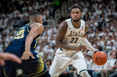 Michigan State Holds Rival Michigan Scoreless in Overtime, Rolls to 76-66 Win