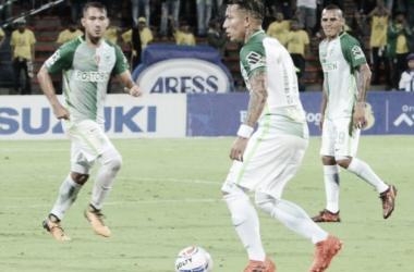 Dayro Moreno y Aldo Leao Ramírez se reportaron con los goles del partido. | Foto: Atlético Nacional