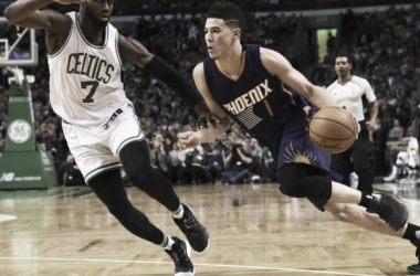 Booker in action against Boston last night. | USA-TODAY Sports