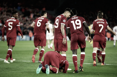 Salah en su noche. Foto: @ChampionsLeague