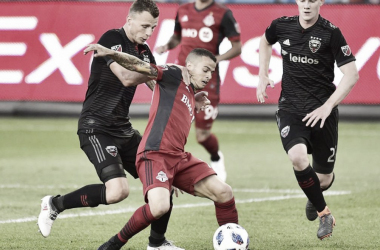 Toronto FC and D.C. United served up some Wednesday night entertainment | Source: Frank Gunn-Canadian Press