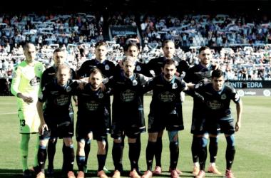 Once del Deportivo ante el Celta en Balaídos // Foto: RCDeportivo