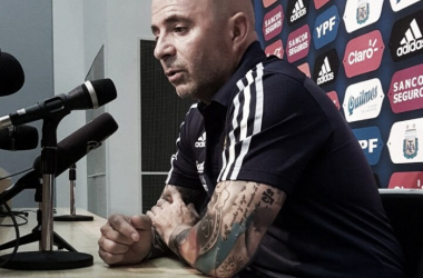 Sampaoli habló tras la victoria ante Singapur | Foto: AFA