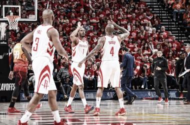 Vencieron los Rockets y lideran la serie | Foto:@HoustonRockets