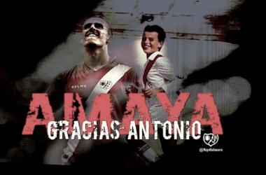 Fotomontaje por la despedida de Amaya. Foto: Rayo Vallecano S.A.D.