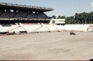 Estadio en obras | Fotografía: Rayo Vallecano