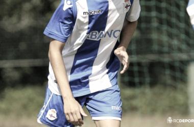 Imagen de un jugador de la cantera | Foto: RCDeportivo