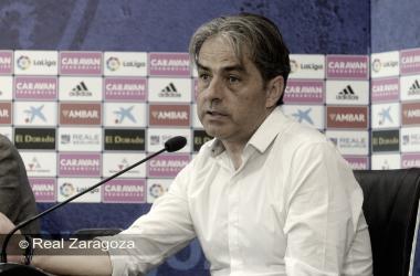 El entrenador vitoriano se mostró contento tras la victoria de su equipo | Foto: Real Zaragoza