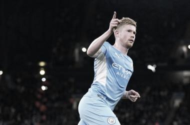 De Bruyne anotó para el City, Foto: Manchester City.