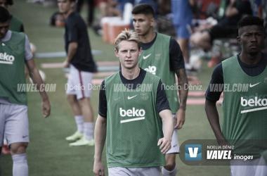 De Jong, protagonista del entrenamiento del Barça | Foto: Noelia Déniz - VAVEL