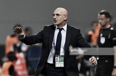 Luis de la Fuente da instrucciones durante la semifinal ante Francia / Foto: UEFA (Getty Images)