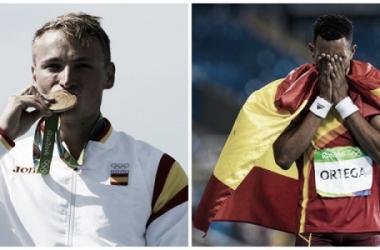 Marcus Cooper Walz y Orlando Ortega, medallistas españoles de la 11ª jornada. Fotos: COE.
