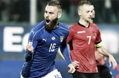 Albania - Italia en vivo y en directo online en Clasificación Mundial Rusia 2018 (0-1)