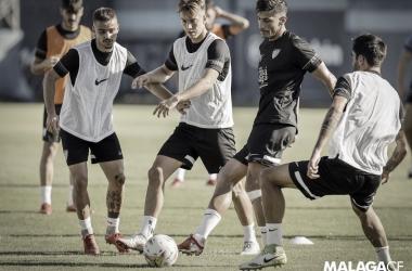 Chavarría en el entrenamiento // Foto: Málaga CF