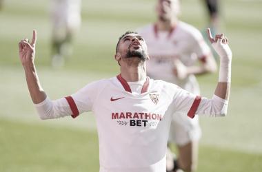 En-Nesyri celebrando un gol | Foto: Sevilla FC