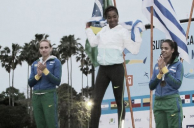 Deborah ganó medalla de oro en el Sudamericano de Atletismo FOTO: Montevideo2014