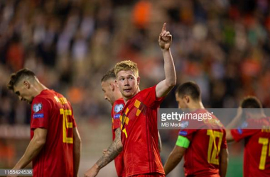 Kevin De Bruyne produced a masterclass at Hampden tonight, playing a part in all four goals. Photo by MBMedia/GettyImages
