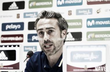 Jorge Vilda en rueda de prensa / FOTO: Daniel Nieto (VAVEL)