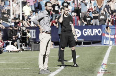 Pablo Machín, en una imagen del partido frente al Levante disputado a principios de noviembre. | Foto: LFP