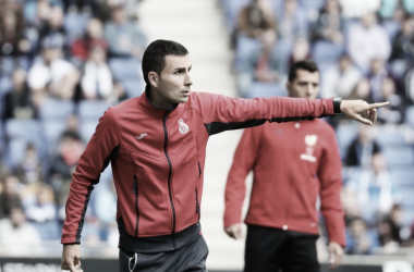 Toni Clavero durante el partido ante el Málaga   Foto: RCD Espanyol.