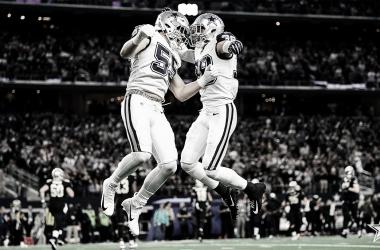 """La defensiva de Dallas buscando """"saltar"""" a los playoff (foto Dallas Cowboys)<div><br></div>"""