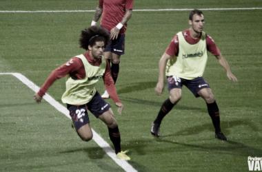 Unai y Aridane en el calentamiento de un partido. Fuente: Flickr VAVEL España