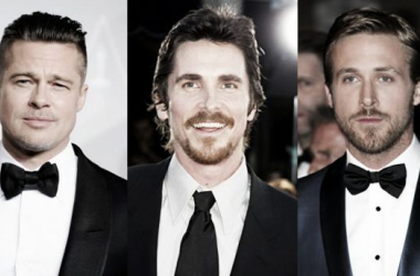 Brad Pitt, Christian Bale y Ryan Gosling (foto:chilango)