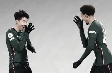 Dele Alli y Son celebran el gol del triunfo para los Spurs. Foto: Tottenham.