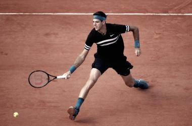 Del Potro arrancó con éxito su andadura en Roland Garros. Foto: Zimbio.