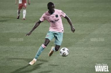 Ousmane Dembélé en un partido durante la presente temporada | Foto de Noelia Déniz, VAVEL