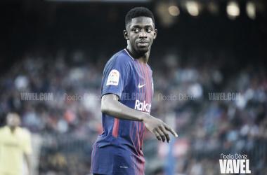 Dembélé en un partido con el FC Barcelona  Foto: Noelia Déniz, VAVEL.