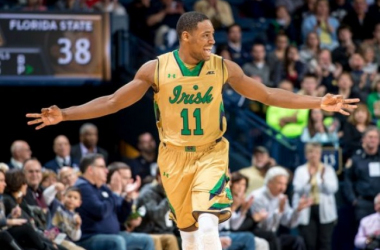 Mike Brey said Demetrius Jackson was a critical leader for the Irish in 2016. Photo courtesy of Matt Cashore - USA Today Sports