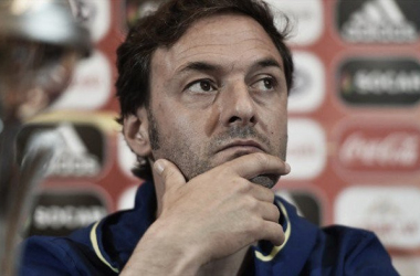 Santi Denia en rueda de prensa | Foto: UEFA