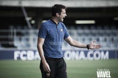 Denis Silva, dando órdenes en un encuentro | Foto: Noelia Déniz - VAVEL