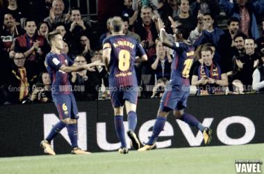 Los protagonistas inesperados: Paulinho y Denis Suárez  |  FOTO: Ernesto Aradilla