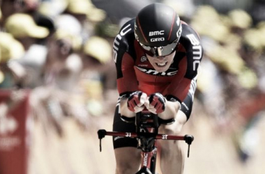 Rohan Dennis shocked the favourites in Utrecht. (Image: Sky Sports)
