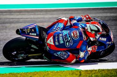 Moto2 GP d'Italia - Pasini si candida alla pole: è lui il più veloce nelle FP3 | Twitter Mattia Pasini