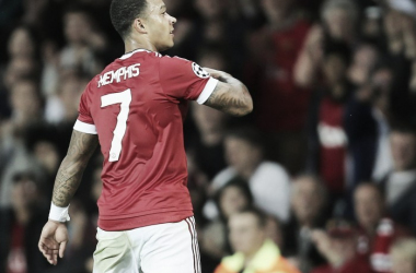 Memphis Depay en uno de los partidos con el Manchester United | Foto: UEFA