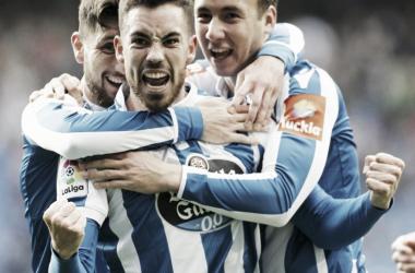 Jugadores del Deportivo celebrando un tanto | Foto: LaLiga