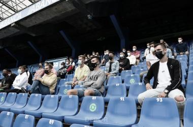 Los jugadores de la primera plantilla del Dépor en la presentación de la temporada | Foto: RcDeportivo