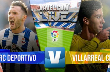 Resultado Deportivo de La Coruña - Villarreal en Liga BBVA 2015 (1-1)