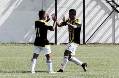 Pedro Ramírez y Víctor Aquino anotaron por Táchira. | Foto: Prensa Deportivo Táchira
