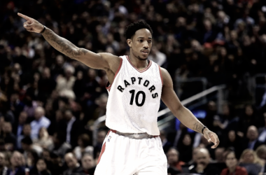 Simply put, DeMar DeRozan is tearing it up. Photo: AFP Photo/Vaughn Ridley
