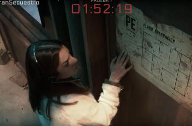 Ruth Lorenzo intentando superar una prueba en 'El Gran Secuestro'' | Fuente: Youtube